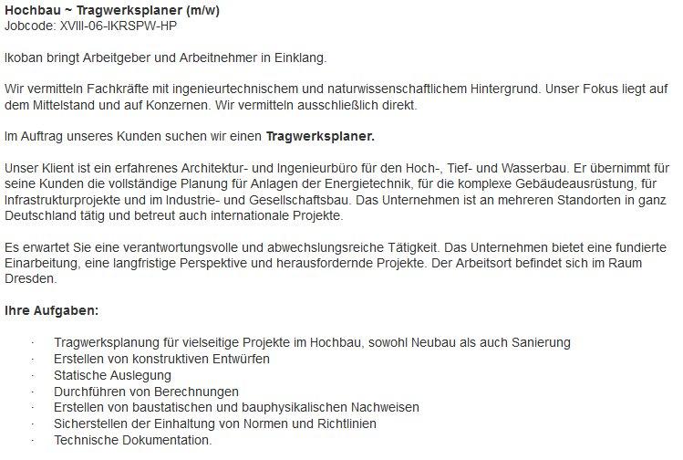 Jobsuche Architektur | Tragwerksplaner Hashtag On Twitter