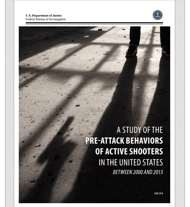 FBI Releases New Study of Pre-Attack Behaviors of Active Shooters. fbi.gov/file-repositor…