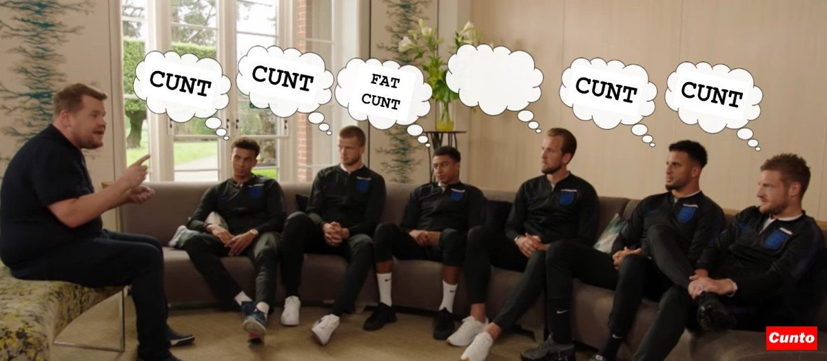 ENGLAND WORLD CUP LATEST: England stars brain scan readouts as they meet non-hilarious TV meat prince James Fucking Corden. #englandsquad #jamesfuckingcorden