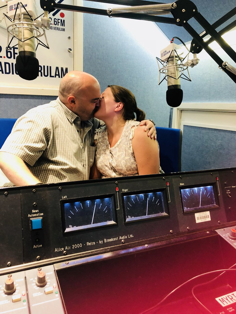 Still as feisty as ever I'd say! Love #StAlbans It all happens in Studio B @RVOutandabout @radioverulam