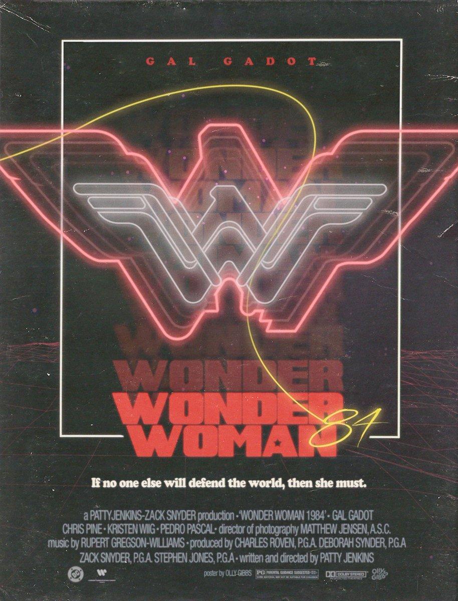 An alternative version of the poster I created #WonderWoman1984 #WonderWoman #WW84 #DC @PattyJenks @GalGadot @DCComics
