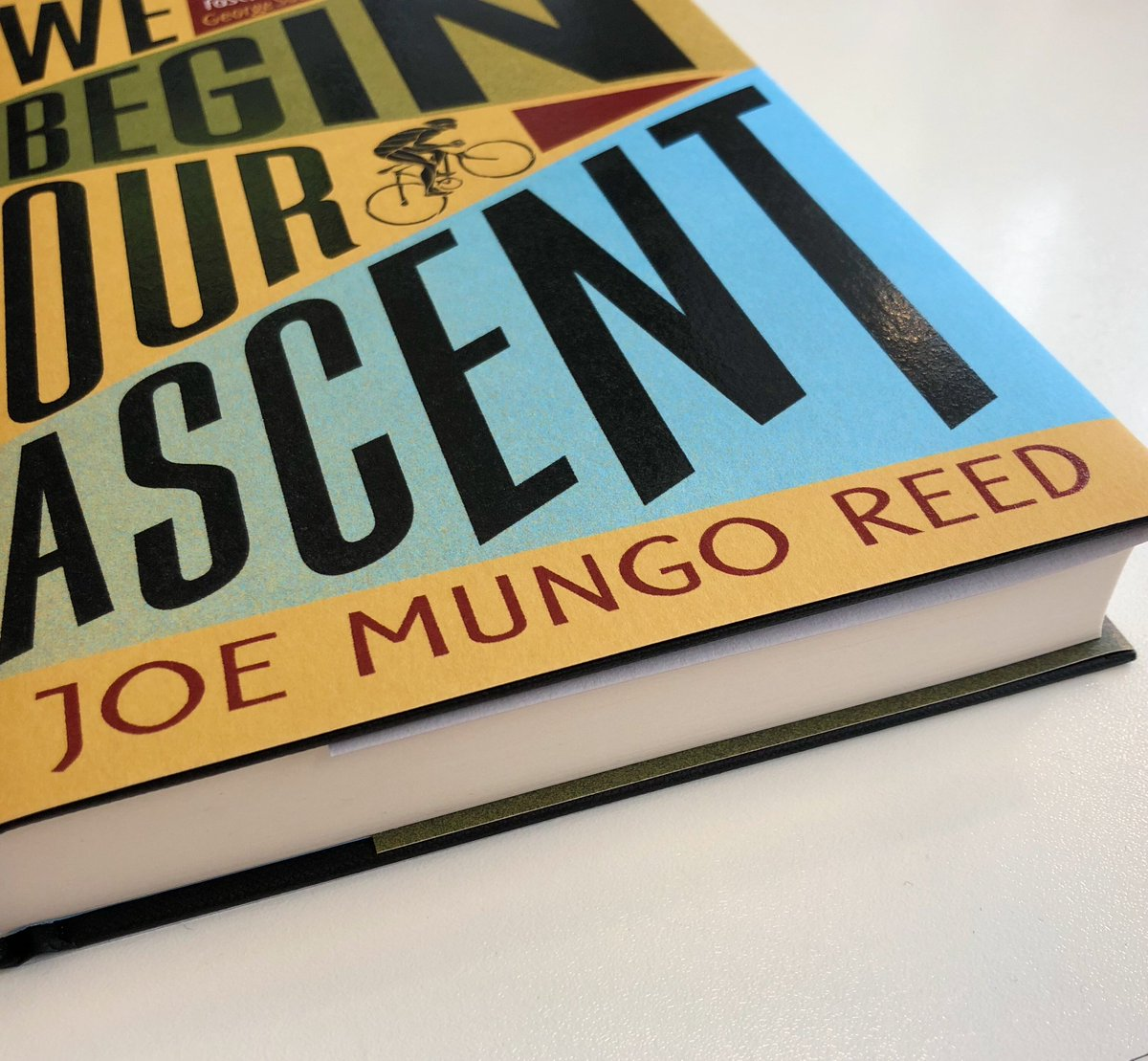 Cant wait until @Joemungoreeds excellent debut novel We Begin Our Ascent hits the shelves? Weve got you covered with a brilliant piece written by him on the @IndieThinking website: indiethinking.co.uk/6368/on-writin… #WeBeginOurAscent 🚵♂️