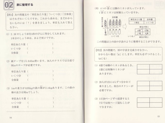 数教協水道方式批判 田の字表は駄目な方法 Togetter