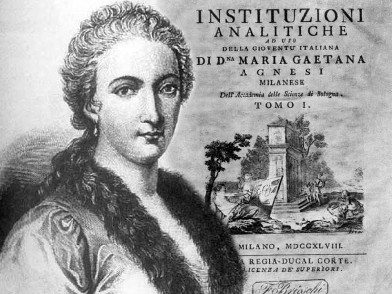In June 1748 Italian mathematician Maria Gaetana Agnesi published &#39;Analytical Institutions for the Use of Italian Youth&#39;, the first maths textbook written by a woman. She was the first woman appointed as a maths professor, in Bologna in 1750.  https://www. britannica.com/biography/Mari a-Gaetana-Agnesi &nbsp; …  #WomenInSTEM <br>http://pic.twitter.com/YHQCcJLmVX