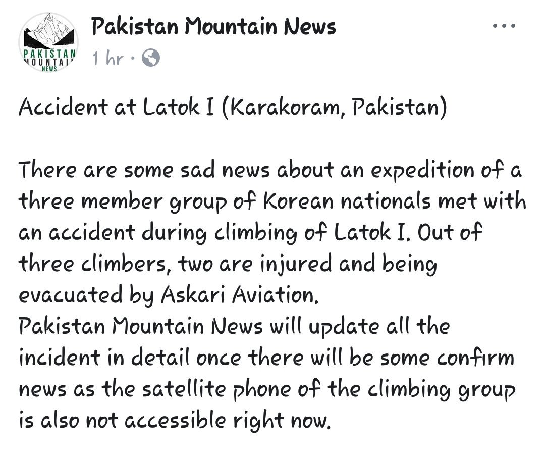 Pakistan Mountain News på Twitter: