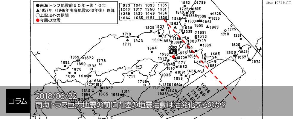 【コラム】『南海トラフ巨大地震の前に内陸の地震活動は活発化するのか?』過去に発表された論文をもとに、内陸地震の活発化の根拠やそのメカニズムの仮説を紹介。今回の地震がそのメカニズムからどのような意味を持つのか?堀グループリーダーによるコラムです。 https://t.co/ebgAJKQ8rD #JAMSTEC