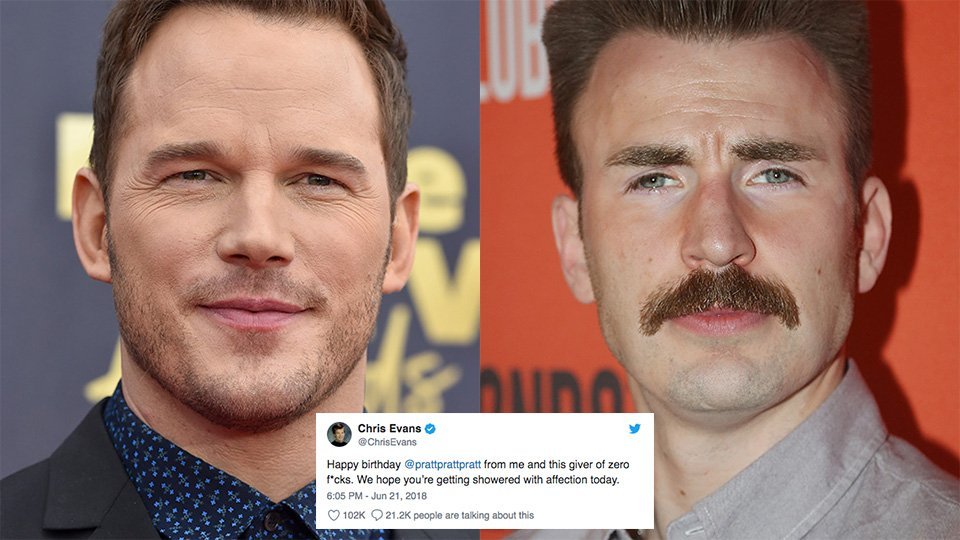 Chris Evans trolls Chris Pratt on his birthday, gets the ultimate response https://t.co/r9Q2Egie9L