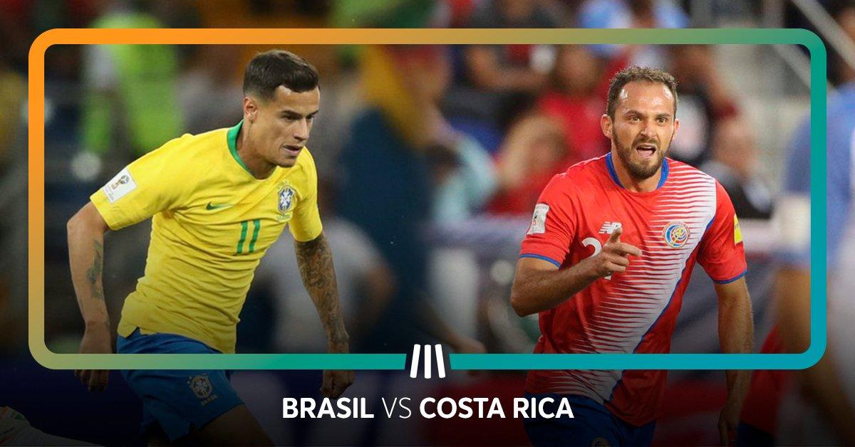 📅 Hoje às 13h00 📺 @SPORTTVPortugal 1  Um desapontante empate no primeiro jogo e uma exibição que não convenceu coloca o Brasil numa situação delicada. Irão os Canarinhos confirmar o seu poderio e vencer a Costa Rica?