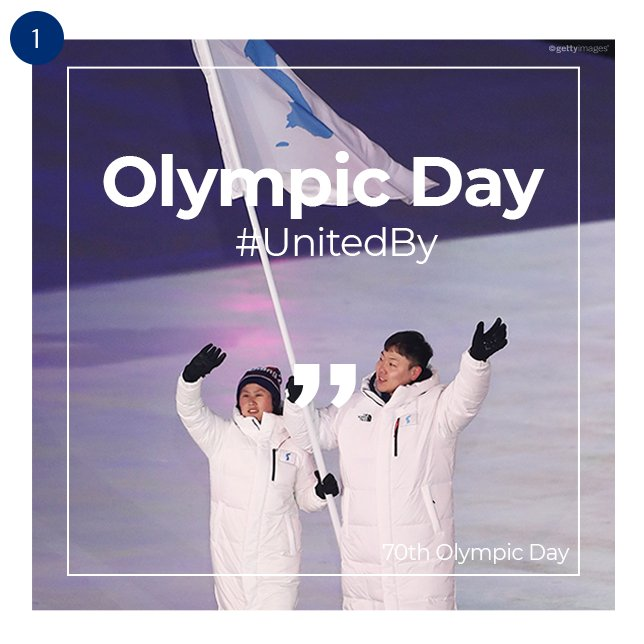 Tomorrow marks the 70th anniversary of Olympic Day. We believe that sport has the power to unite the world.  #PyeongChang2018 #OlympicDay #23_June #UnitedBy<br>http://pic.twitter.com/wsEpWZBJRp