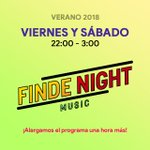 Image for the Tweet beginning: #FindeNight se prolonga una hora