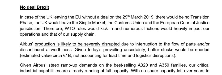 Important point on industrial reality - Government trying to bank relative stability of Transition Agreement when it talks to business, but at the same time still create negotiating space for No Deal which would mean No transition deal - businesses that matter arent stupid: 3/10