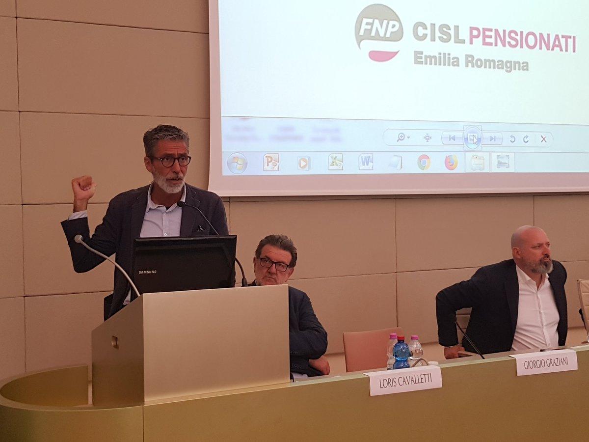 """#ReggioEmilia Il saluto di @grazianigio al convegno organizzato da Cisl ER e @fnpcisler presso @UNIMORE_univ : """"#AldoMoro grande statista e \"""
