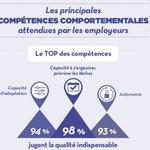 Image for the Tweet beginning: #Infographie @pole_emploi 📌 #Diplômes, #compétences techniques