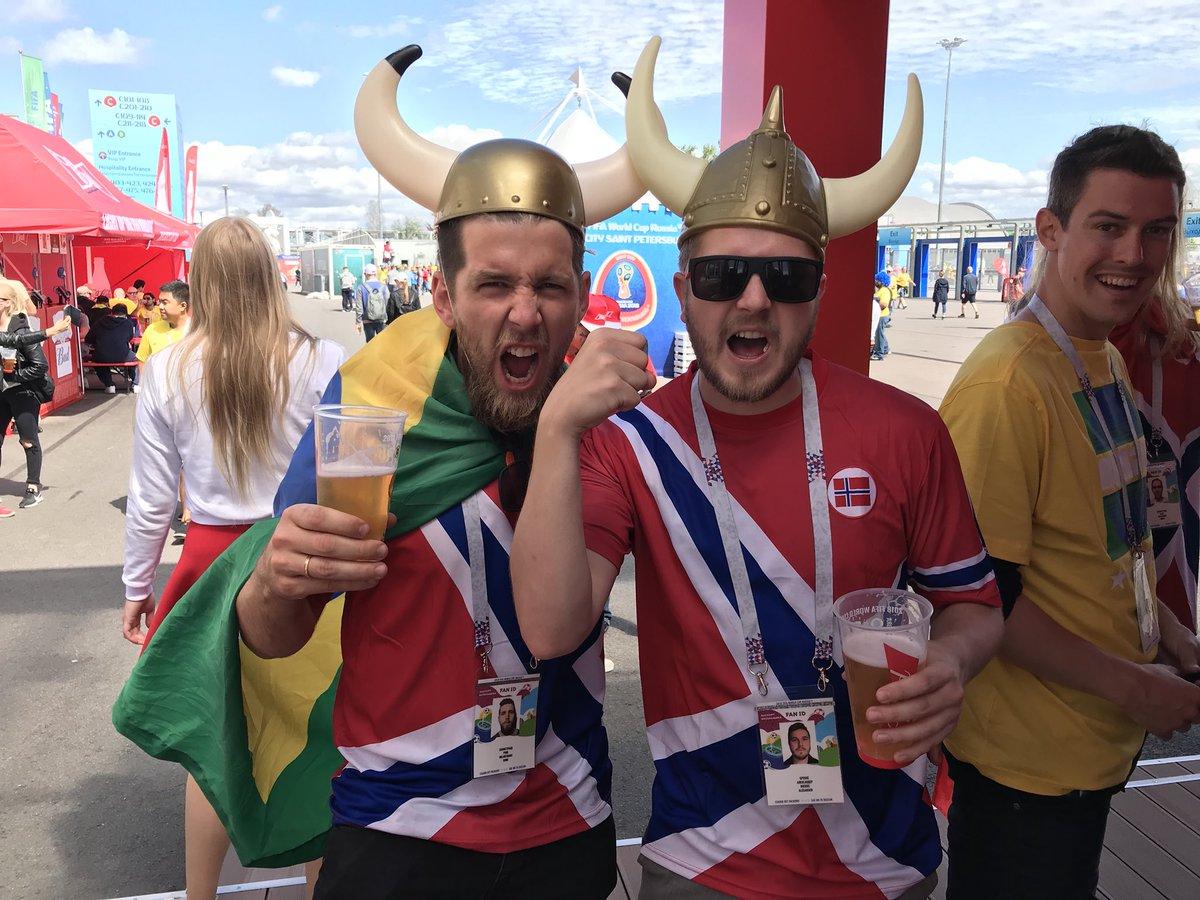 A Noruega não está na Copa, mas os noruegueses estão. E são do Brasil! #trbrasil