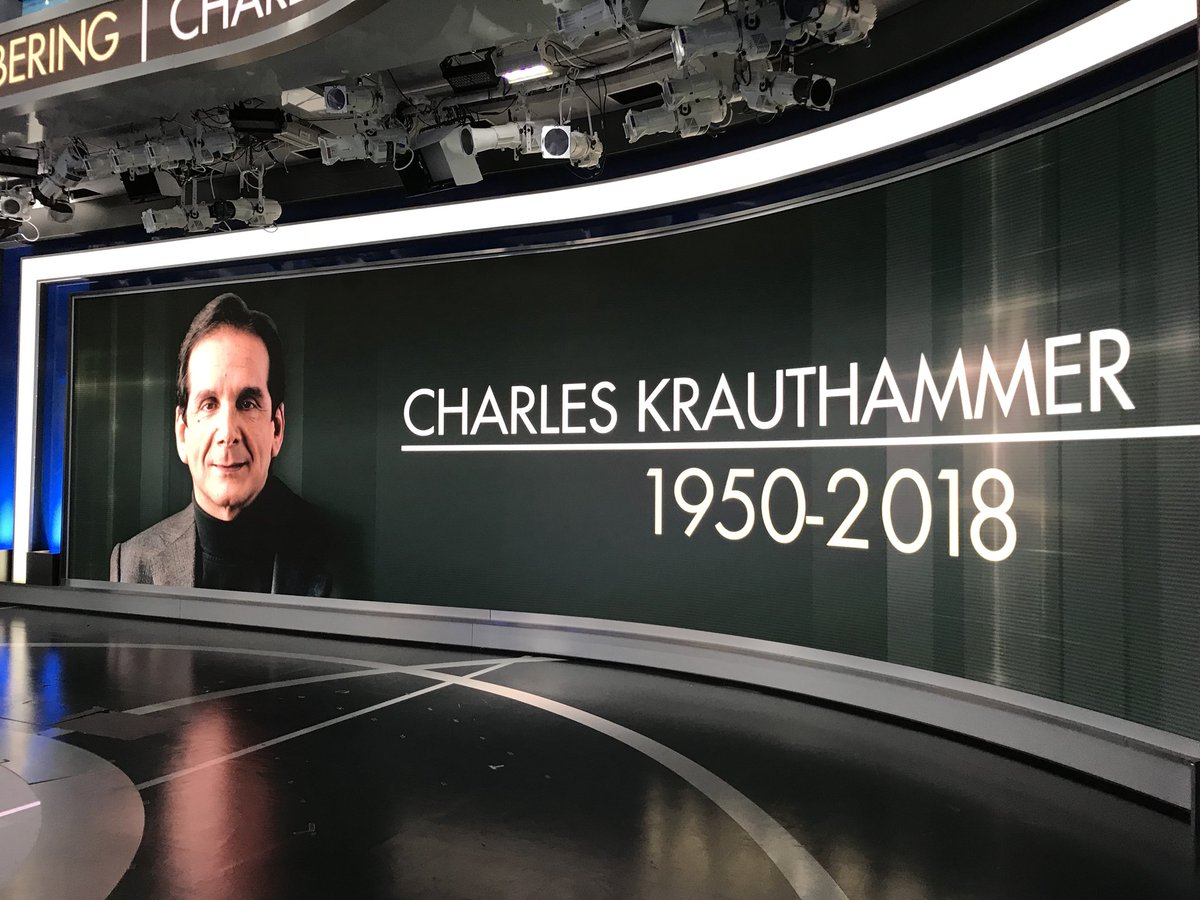 Remembering the life of #CharlesKrauthammer on @foxandfriends 💗