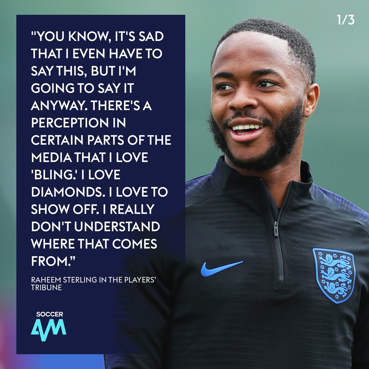 'If anybody deserves to be happy, it's my mum.'  THESE are the Raheem Sterling stories we should be hearing! 👏