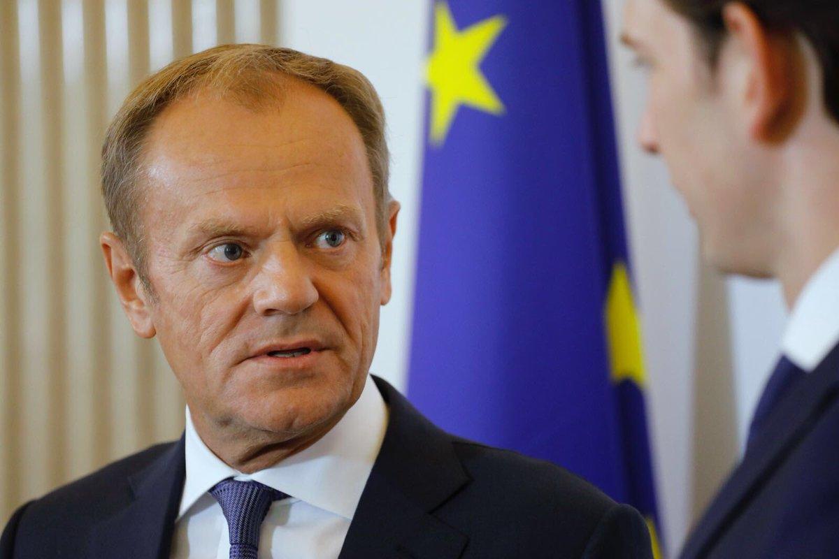 In Vienna for talks with @sebastiankurz on migration and upcoming Austrian EU presidency #eu2018at. #euco