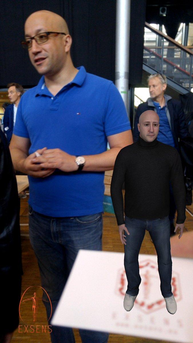 Patrick Berard On Twitter KARiM Et Son Avatar Sur Sa Carte De Visite A Voir Stand Futures In Paris Waow Exsens3d Realiteaugmentee