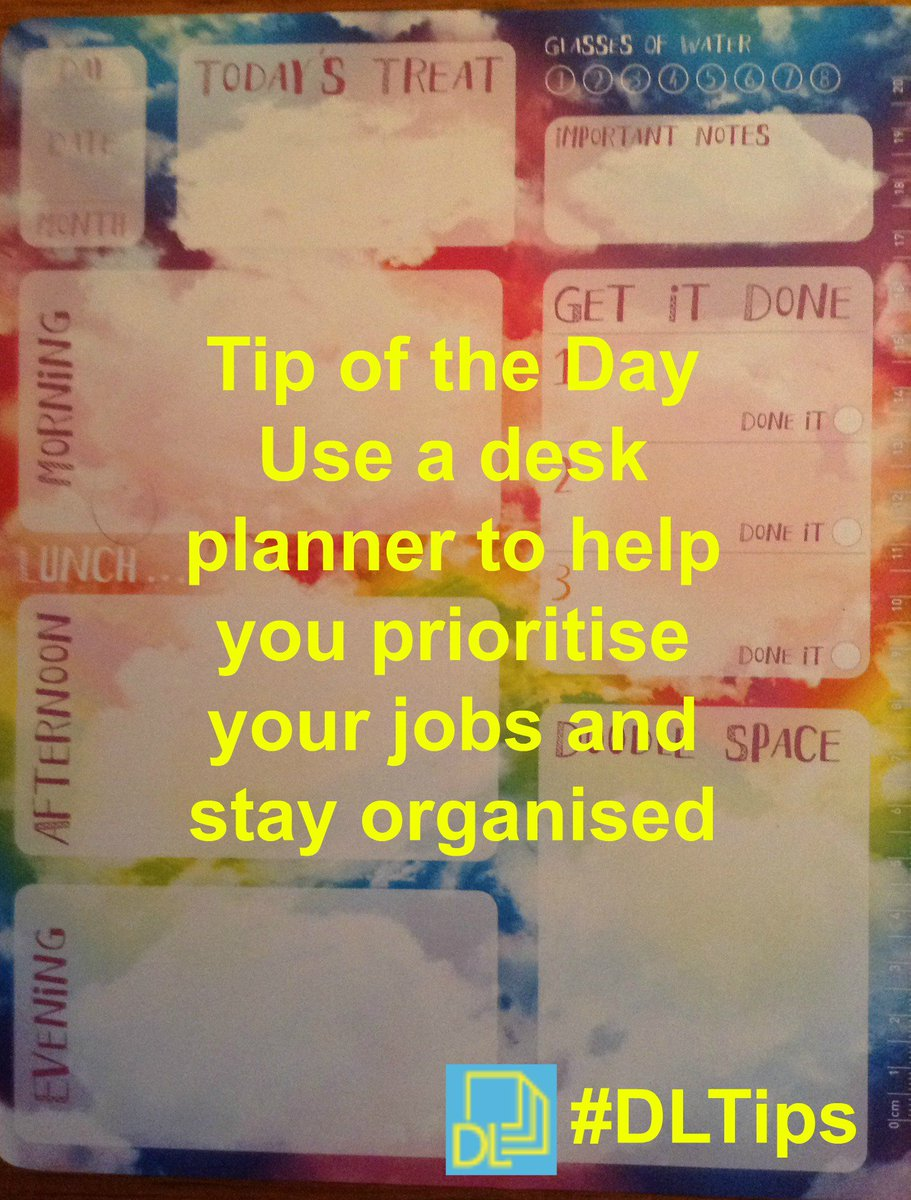 """kerry pace on twitter: """"tip of the day use a desk planner to help"""