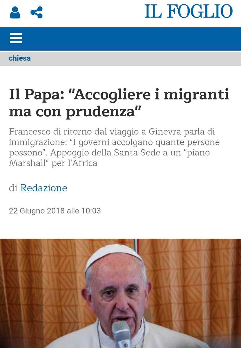 #Salvini  sta influenzando anche #Bergoglio ?  - Ukustom
