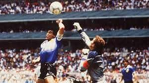 ON THIS DAY in 1986... Diego Maradona cheated England out of the World Cup with his hand of god goal... so how satisfying it was to see him slumped in his chair last night close to tears... after Argentinas CROAT capitulation!! #bbcworldcup 🛫