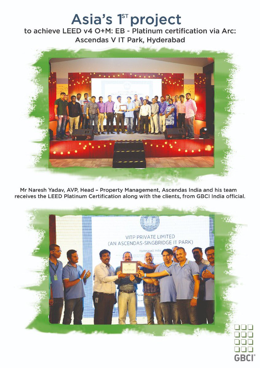 Gbci India On Twitter Congratulations Asbgrp To Achieve Leed V4