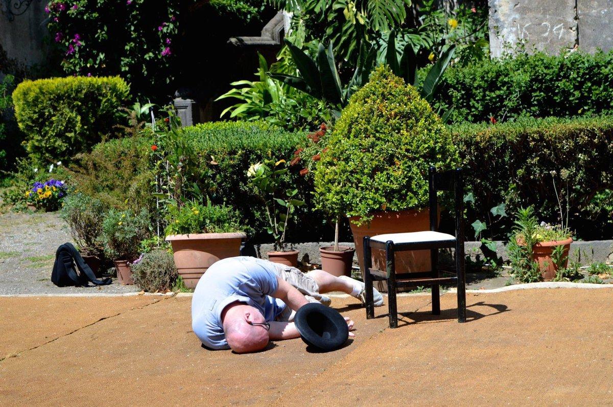 Re-enacting Michael Corleones death scene, in the exact same spot in Sicilys Castello degli Schiavi. #Godfather
