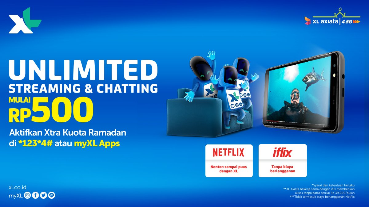 Xl Prabayar On Twitter Nikmati Unlimited Streaming Netflix Iflix