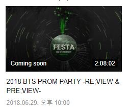 BTS PROM PARTY -RE;VIEW &amp; PRE;VIEW- 2018.06.29, 10:00PM KST  the reupload/replay schedule is finally up on VLIVE, we&#39;ll be able to watch it in a week ! I am in need of that live 땡 in HD ...   @BTS_twt<br>http://pic.twitter.com/YhckXb7DlA