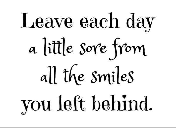 Leave each day a little sore from all the smiles you left behind! #WeTeachuN #JoyfulLeaders