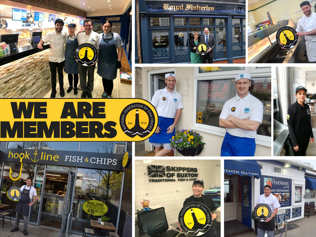 WE ARE MEMBERS!! Our members are proud to #BackTheBadge!   If you are send us your images of how you promote the NFFF badge! Simply email at mail@federationoffishfriers.co.uk #fishandchips<br>http://pic.twitter.com/w1rm5QMX54
