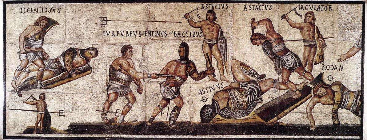 Mosaico con scene di gladiatori al Museo di Villa Borghese a #Roma... #romeisus #Rome #Gaudium @galleriaborghes @MuseandoAtRoma @afriendinrome @Mustapha1508  - Ukustom