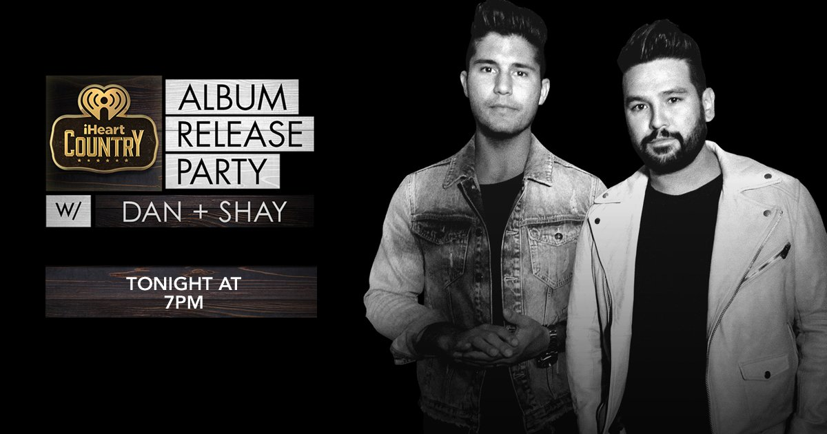 LISTEN NOW @DanAndShay 's new #DanAndShayTheAlbum is out now, + they are playing new music at the #iHeartCountry Album Release Party!  http://www. iheartradio.ca/bx93/1.3918361  &nbsp;  <br>http://pic.twitter.com/1q0lnzM6b8