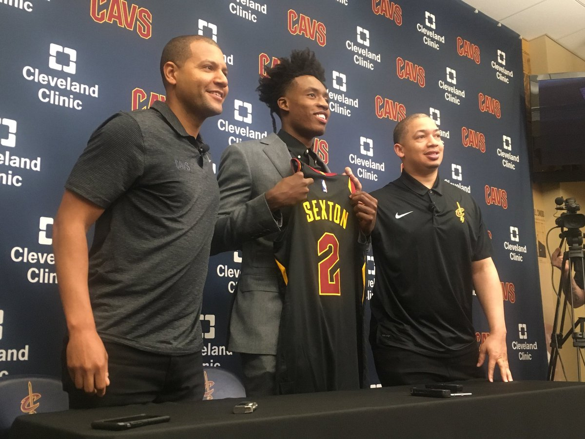 There it is. Collin Sexton is officially #2 for the Cavs. #NBA