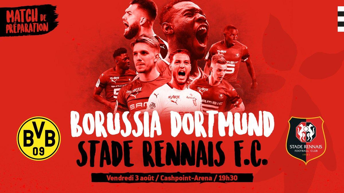Après l'annonce de rencontres amicales face à Lienz, au @RedBullSalzburg et à @rscanderlecht, le #SRFC a ajouté un nouvel adversaire à son calendrier de pré-saison. Les #RougeEtNoir défieront le @BVB à Altach (Autriche) le vendredi 3 août avant de se tourner vers #LOSCSRFC
