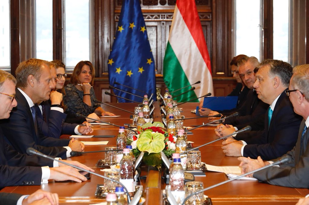 In Budapest with PM Orbán to discuss migration and our June #EUCO next week.
