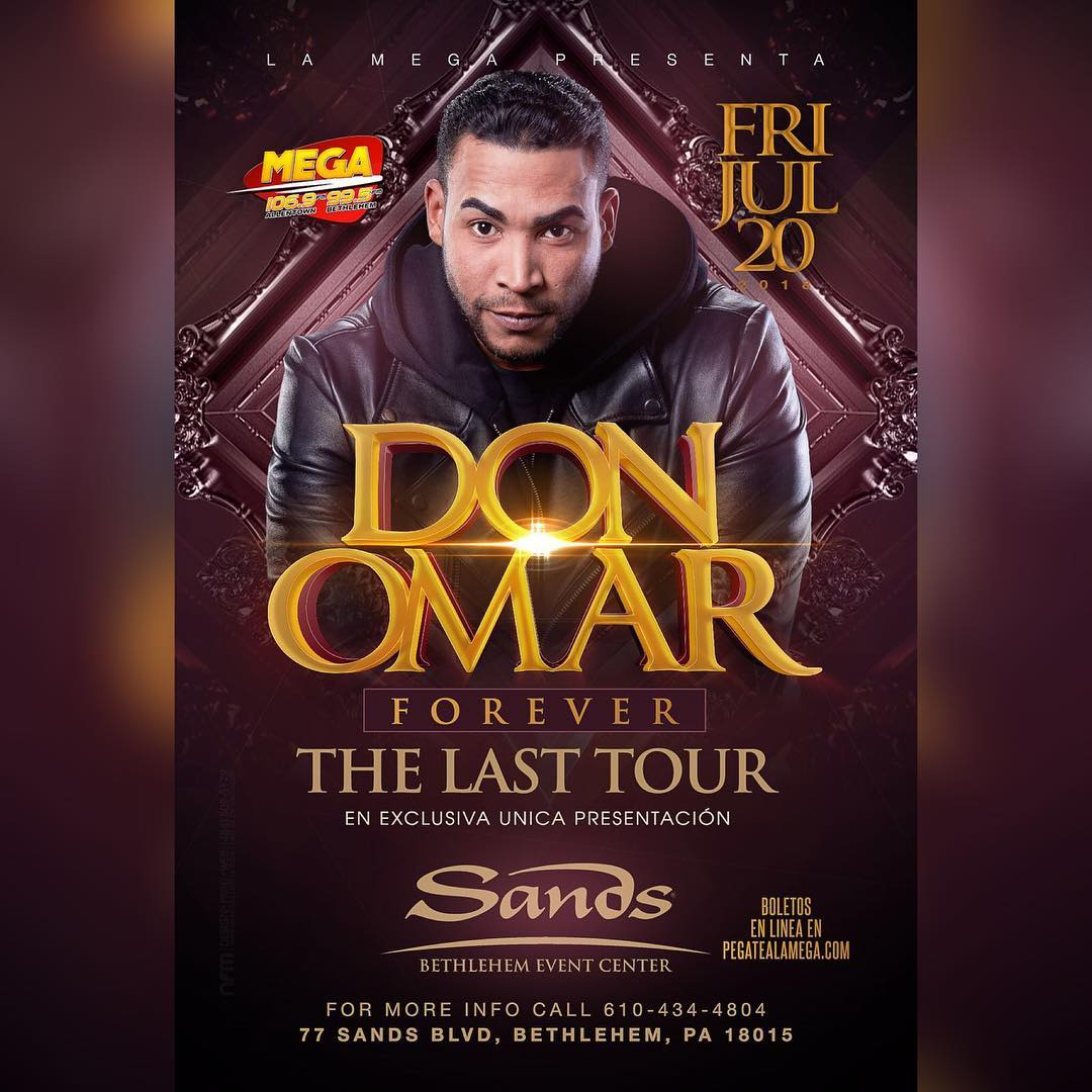 JUST ANNOUNCED: @DONOMAR, one of Latin musics biggest stars, to play @theSBEC. Read @mcall: bit.ly/2yyep13