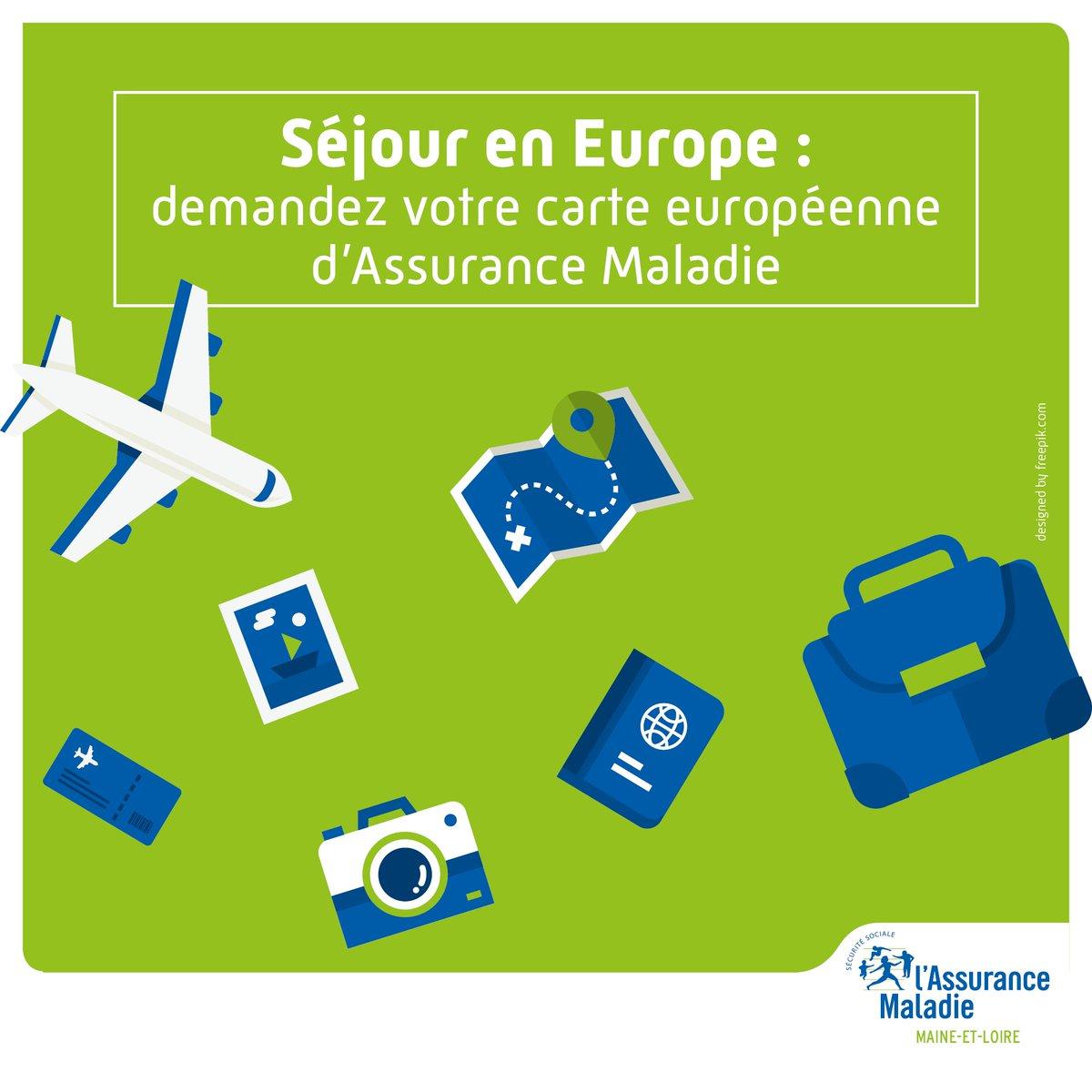 Carte Europeenne Dassurance Maladie Imprimer.Cpam Maine Et Loire On Twitter Vacances En Europe