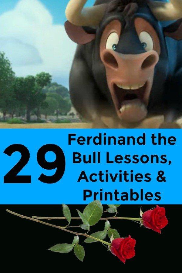 Ferdinand the Bull Activities and Lessons (Movie and Book)  #ferdinand #ferdinandmovie #movies #childrensbooks #summerreading #SummerReadingChallenge #readingisfundamental #books #kidsbook #homeschool #homeschooling #education #educational