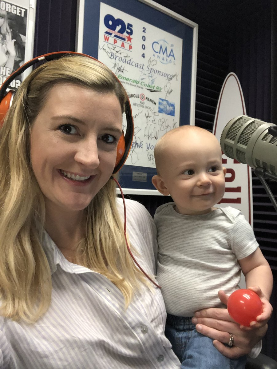 Producer Mac on the Mic this morning!  @925WPAP #radiobaby #radiodj #workingmom #iheartcountry #iheartradio<br>http://pic.twitter.com/zj58jdxcHR