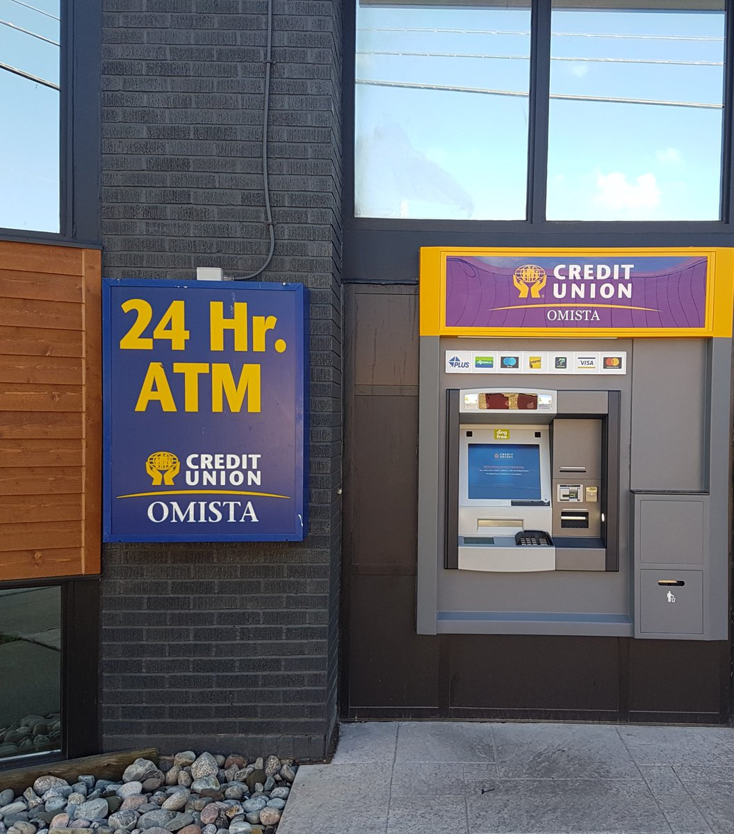 """OMISTA Credit Union on Twitter: """"Our new walk up ATM settled into"""