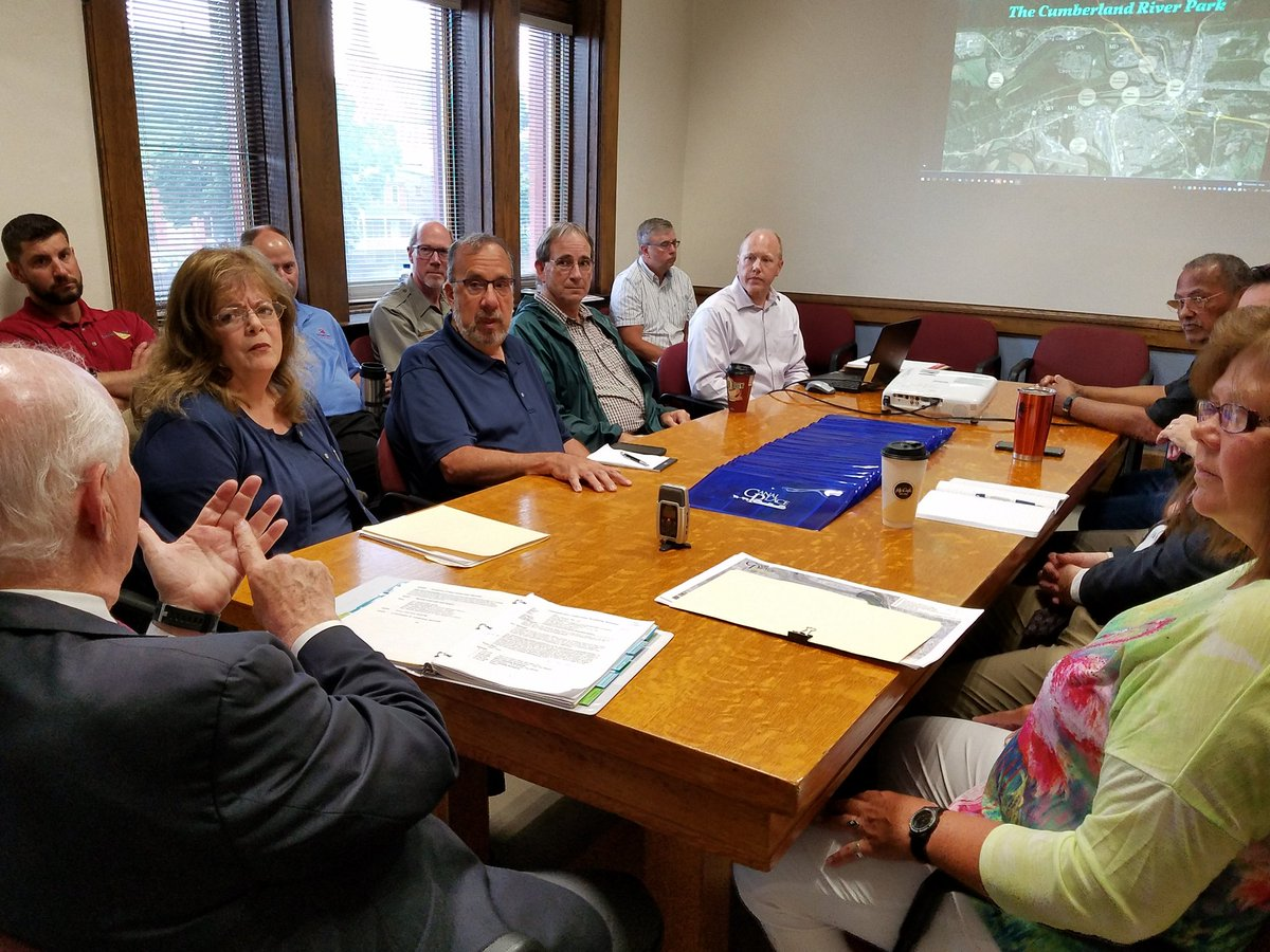 In Cumberland meeting with the many partners working together to increase public access, reduce sewage overflows and boost economic activity along the C&O Canal and Potomac riverfront. Connecting people with nature makes good civic and business sense - and this effort is prooof.
