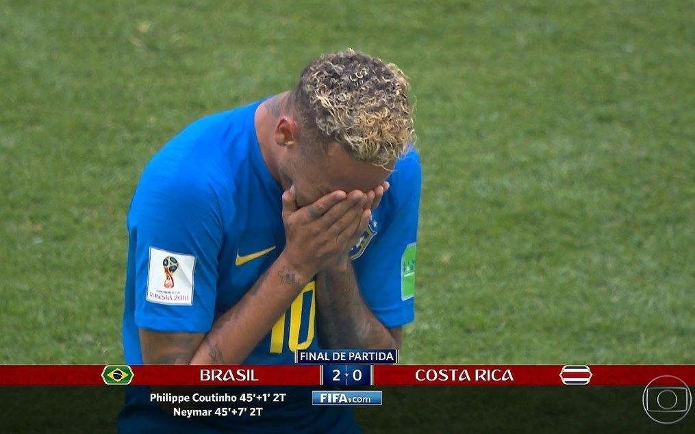 NUNCA CRITIQUEI! Neymar desencanta, deixa o seu e #BRA faz 2 a 0 sobre a #CRC depois de muitas chances perdidas durante todo o jogo. #Copa2018