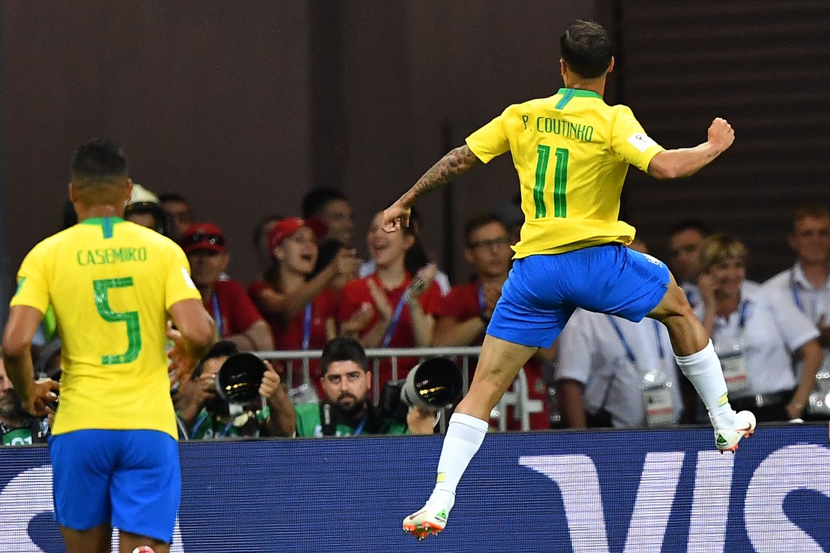 🇧🇷⚽🇨🇷 #BRACRC (2-0) : C'est fini ! Grâce à un but de Coutinho et de Neymar, le Brésil arrache sa 1re victoire dans cette #CM2018 !   📻 Le débrief ici ➡ https://t.co/7via7PmYqa 📺 Débrief dans la #BFMSport Arena ici ➡ https://t.co/D9uj6crl6Z   #RMCLive  #BRA