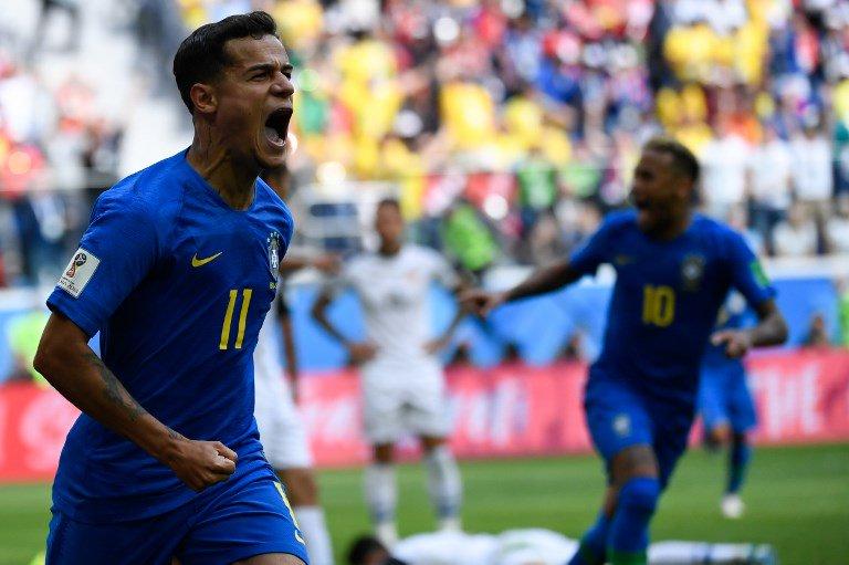 #BRECOS 🇧🇷 🇨🇷 C'est fini, le Brésil s'impose sur le fil (2-0) grâce à des buts tardifs de Coutinho et Neymar ! Ce fut laborieux, mais la Seleçao fait une bonne opération dans la course aux huitièmes de finale #CM2018 #BRECRC