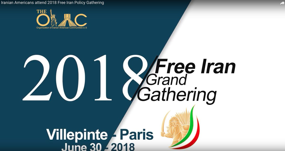 Are you looking for more information about #FreeIran2018 Grand Gathering of Iranians in Paris on June 30th? WATCH this 36 seconds video on youtube, and leave comment, please.  https://www. youtube.com/watch?v=uFkBBf WF_jo &nbsp; …  #FreeIran @washingtonpost @nytimesworld <br>http://pic.twitter.com/t11MCZ1lXv
