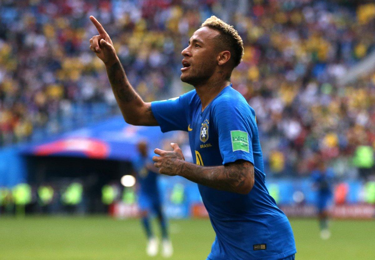 🇧🇷 All-time top scorers for Brazil:   77 - Pelé  62 - Ronaldo  56 - Neymar  @neymarjr ⚽️  #UCL