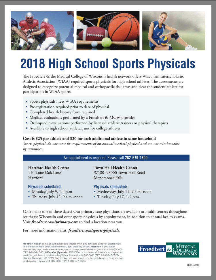 """sports physical form wisconsin  HUHSAthleticTraining on Twitter: """"Who needs a sports ..."""
