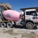 Die Sement Depot's FAW cement mixer supporting the annual #pinkdrive #trucks #trucking #trucker #construction https://t.co/zXs7632Tnu