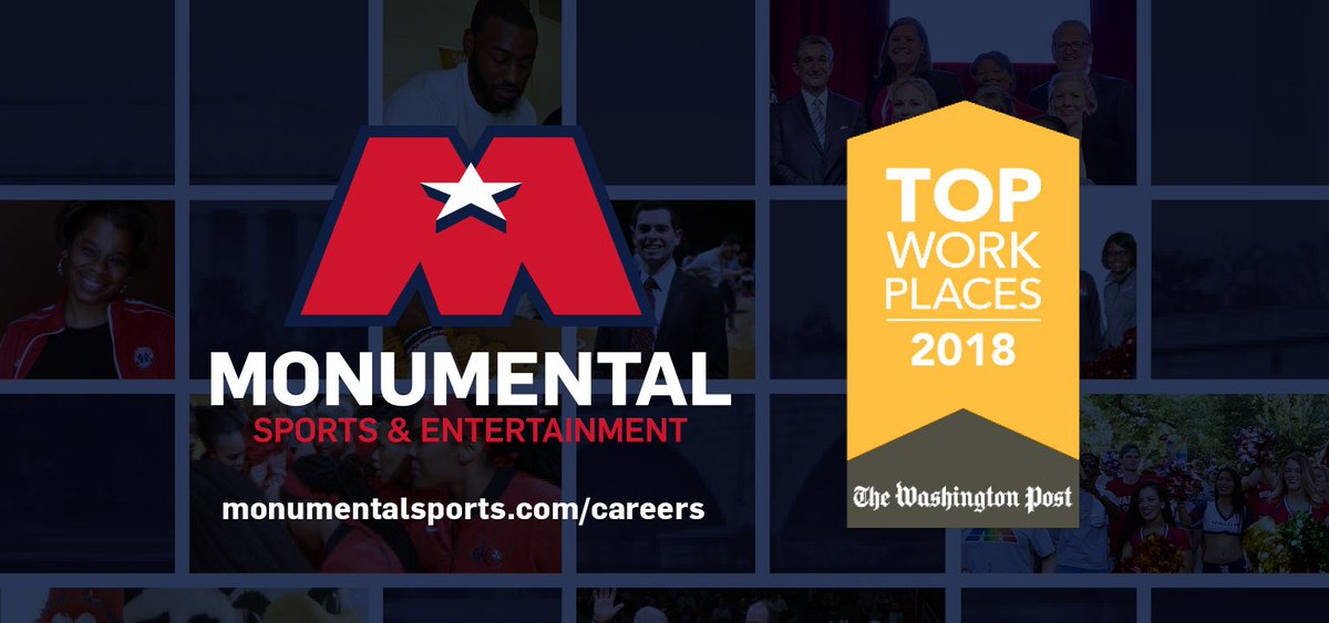 Incredibly proud to be named a 2018 @washingtonpost Top Workplace! #BeMonumental